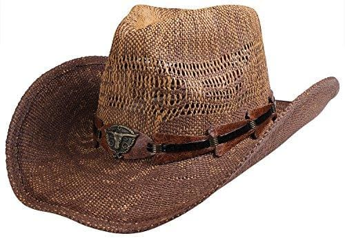 Classic Straw Hat With Wide Brim - Brown