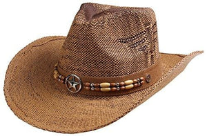 Classic Straw Hat With Wide Brim - Light Brown