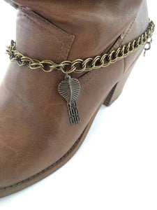 Double Link Brass Boot Bracelet