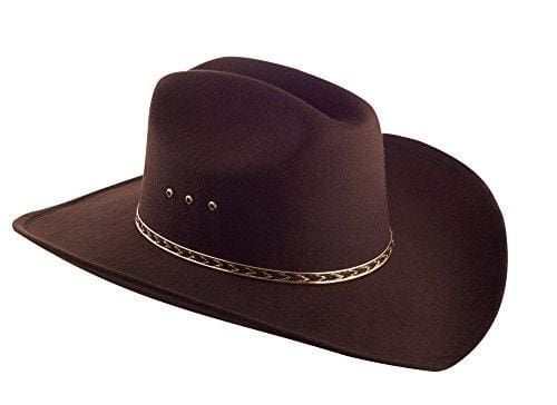 Faux Felt Wide Brim Hat - Small/medium / 6 3/4-7 1/8 / Brown