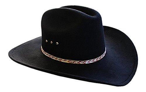 Faux Felt Wide Brim Hat - Small/medium / 6 3/4-7 1/8 / Redband
