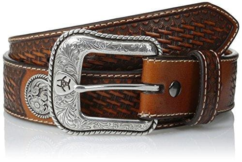 Intricate Patterned Buckle And Round Concho Belt