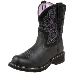 Leather Riding Boots - 6.5 M / Black Deertan Orchid