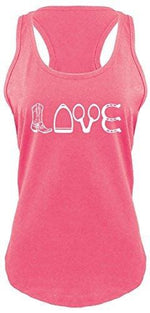 Love Tank - X-Small / Hot Pink With White Print