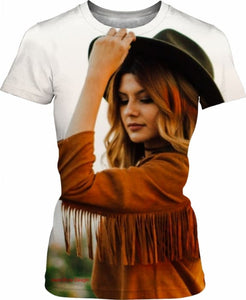 Real Cowgirl T-Shirt - (West-Style Design) - Women T-Shirts