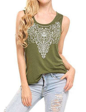 Street Printed Tank - Small / Army Green