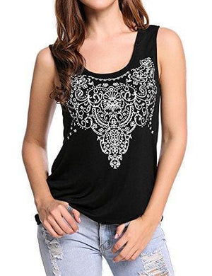 Street Printed Tank - Small / Black