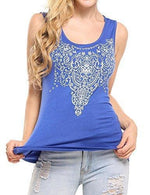 Street Printed Tank - Small / Blue
