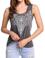 Street Printed Tank - Small / Gray
