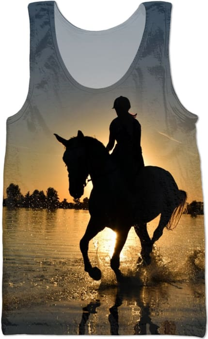 Sunset Riding Tank - (L.rachana Design) - Tank Tops