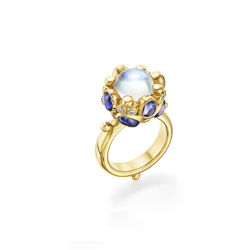18K Royal Blue Moon Beatrice Ring