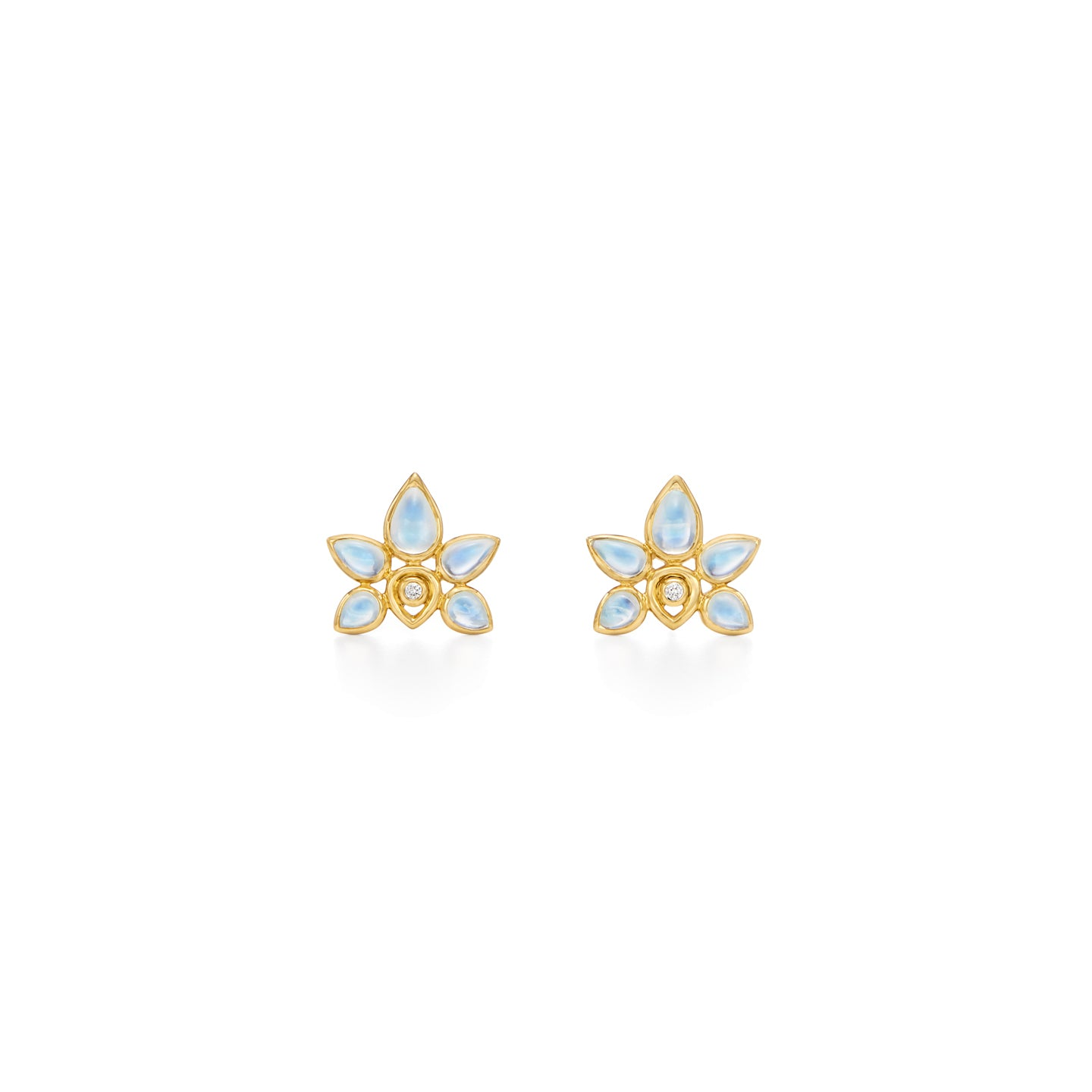 18K Lotus Earrings
