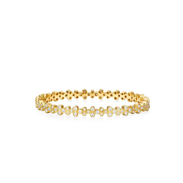18K Diamond Trio Eternity Bracelet