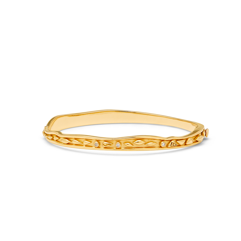 18K River Wave Bangle  Small