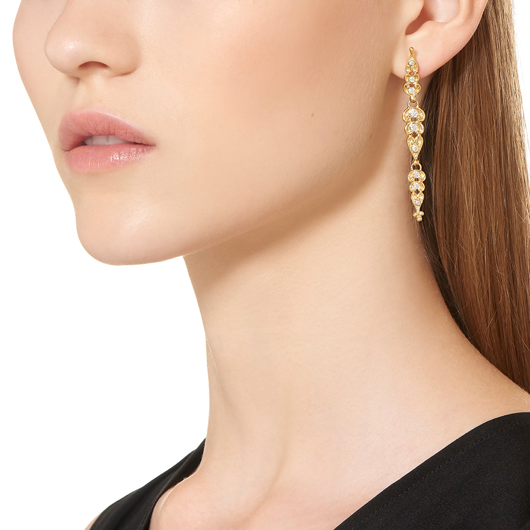 18K Dynasty Drop Earrings