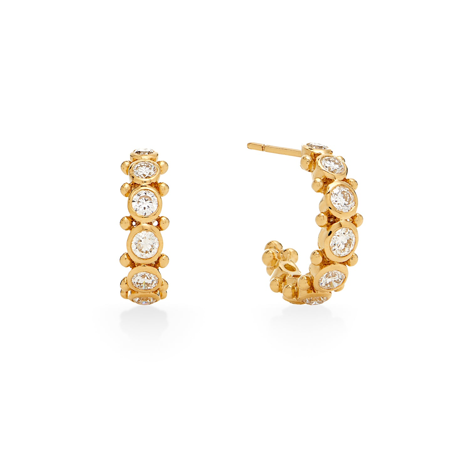 18K Small Eternity Hoop Earrings