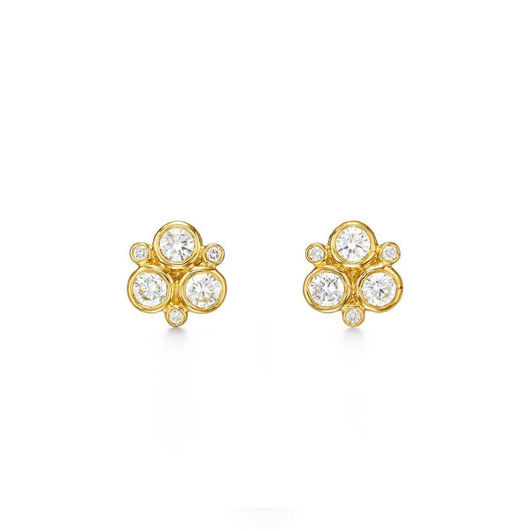 18K Classic Diamond Trio Earrings