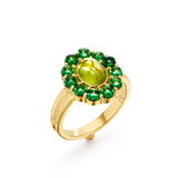 18K Color Theory Green Ring