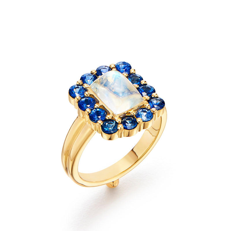 18K Color Theory Blue Ring