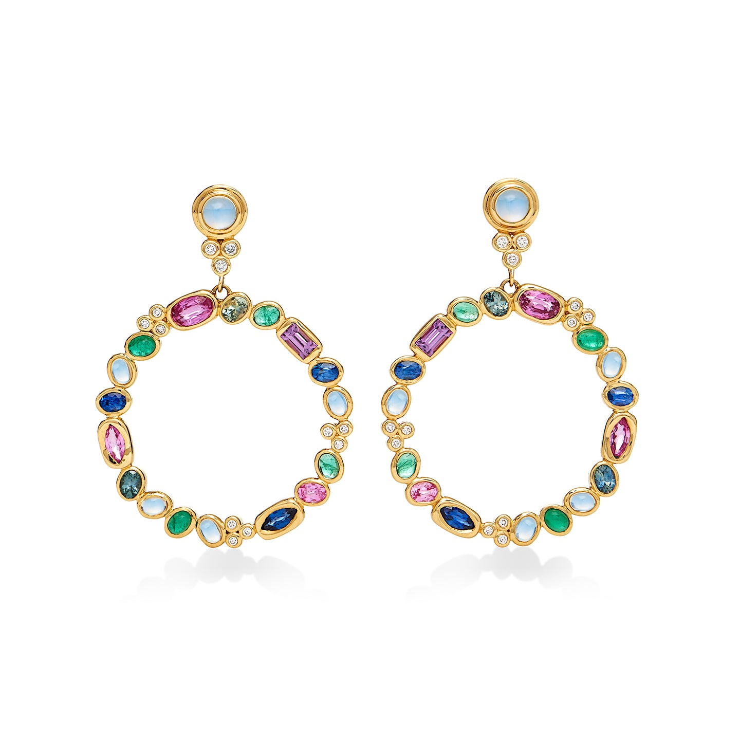 18K Campo Circle Earrings