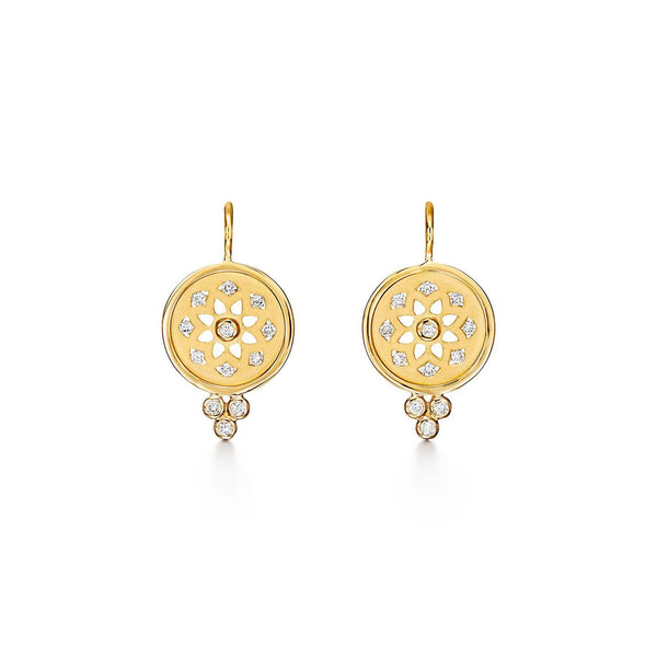 18K Mandala Cutout Earrings