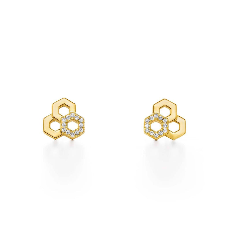 18K Honeycomb Earrings