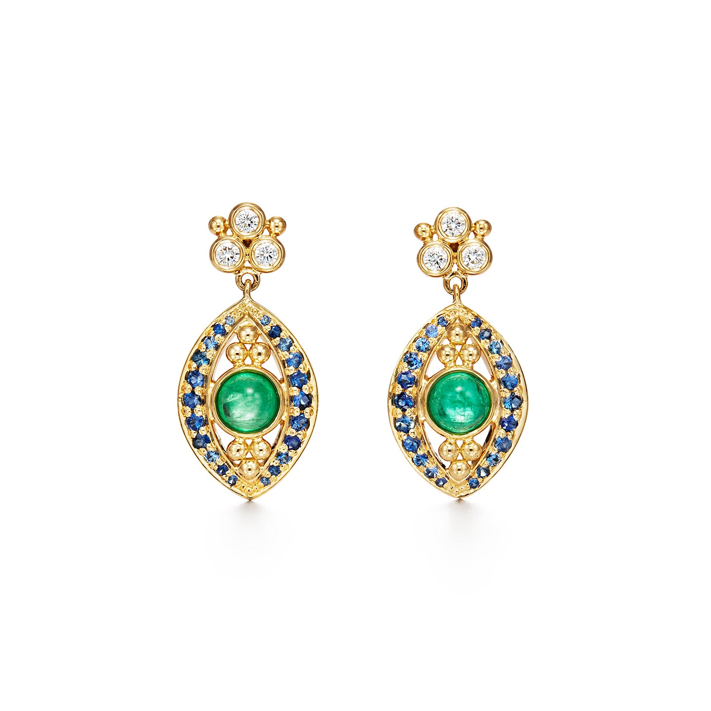 18K Evil Eye Drop Earrings