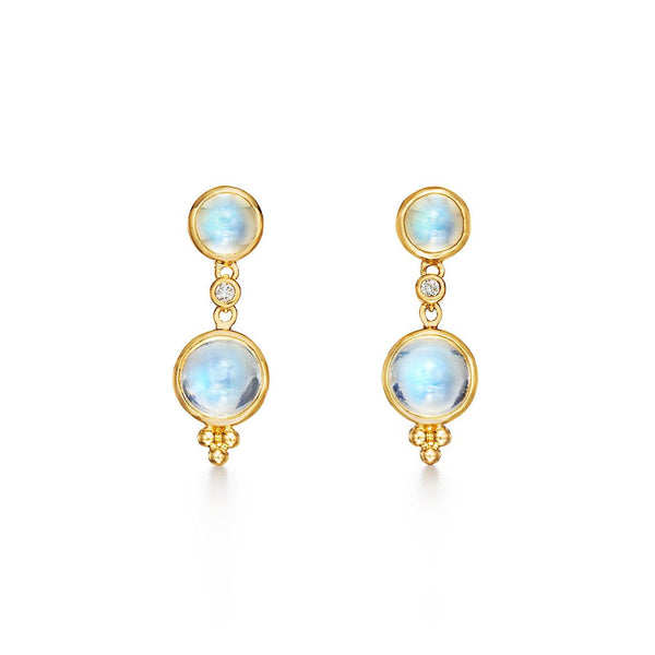 18K Moon Drop Earrings