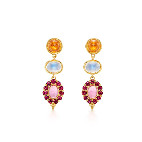 18K Color Theory Totem Earrings