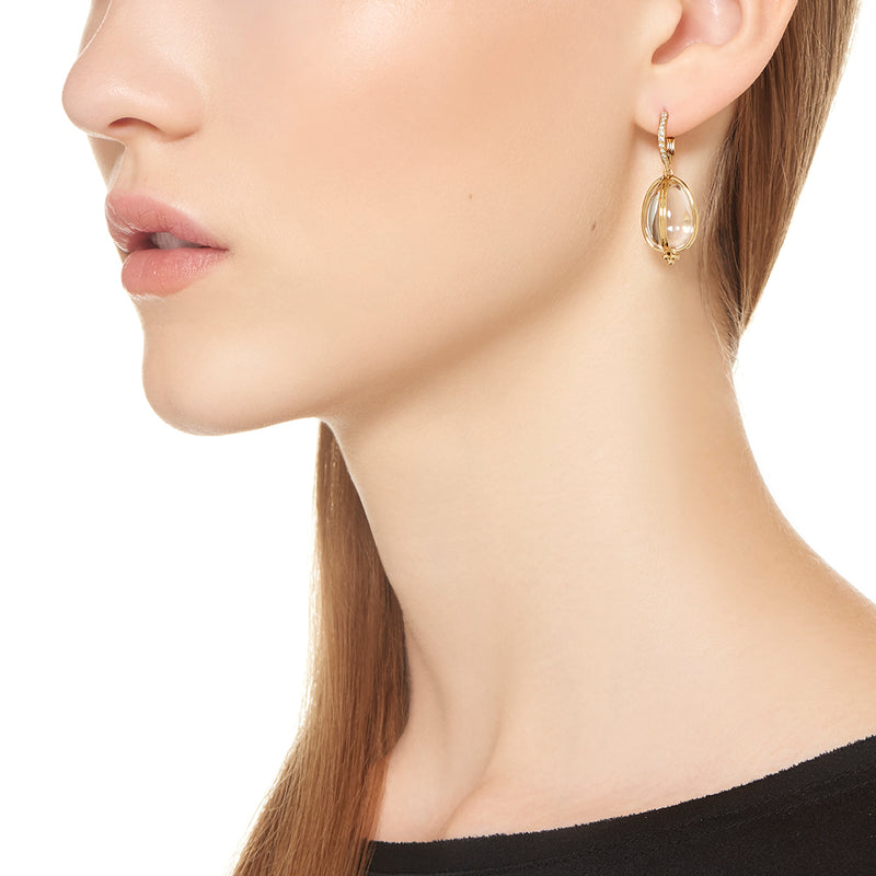 18K Classic Amulet Earrings