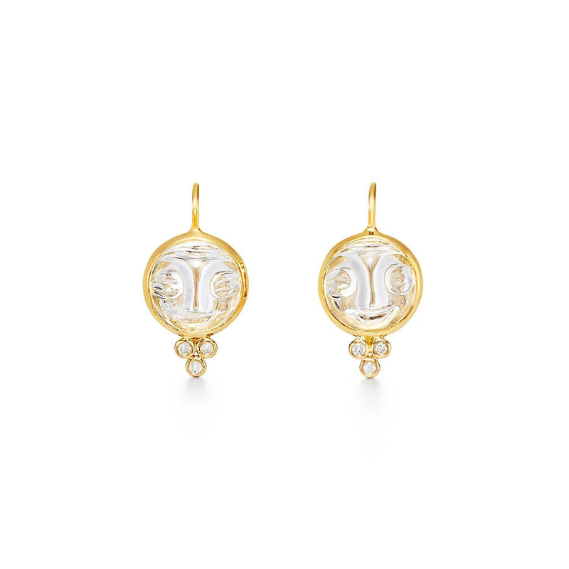 18K Moonface Earrings