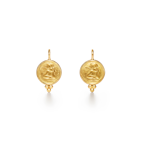 18K Angel Earrings