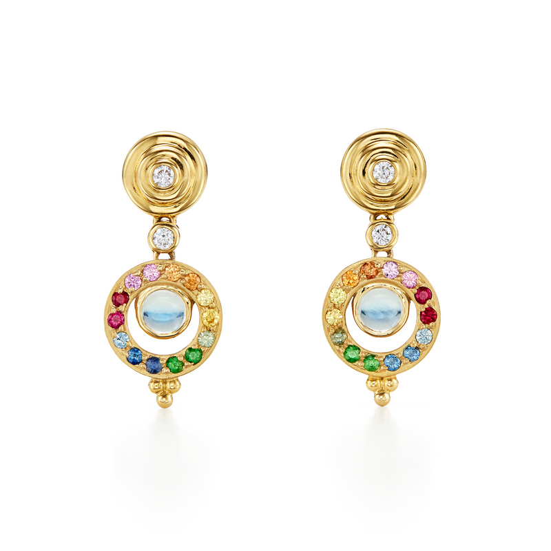 18K Double Orbit Earring