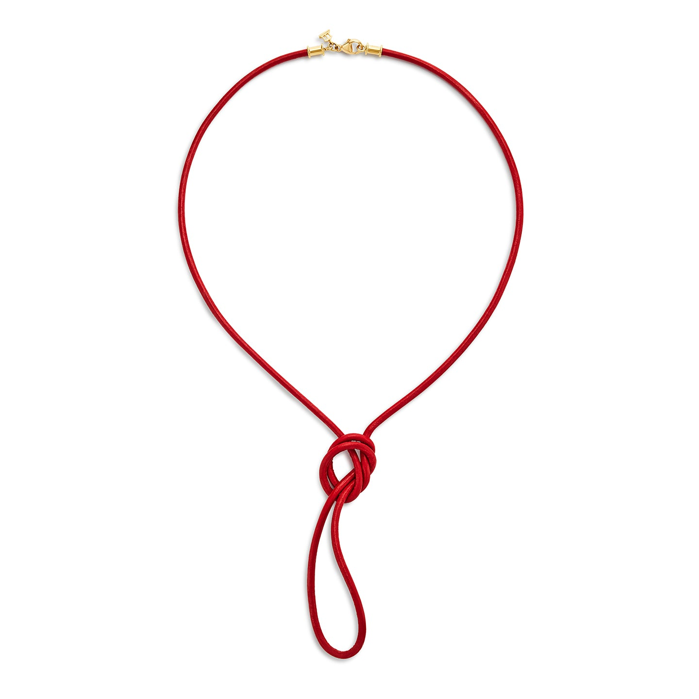 18K Red Leather Cord
