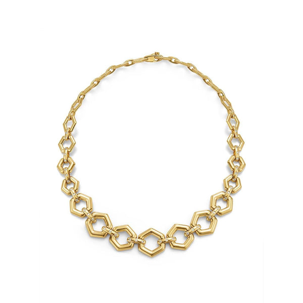 18K Beehive Link Necklace