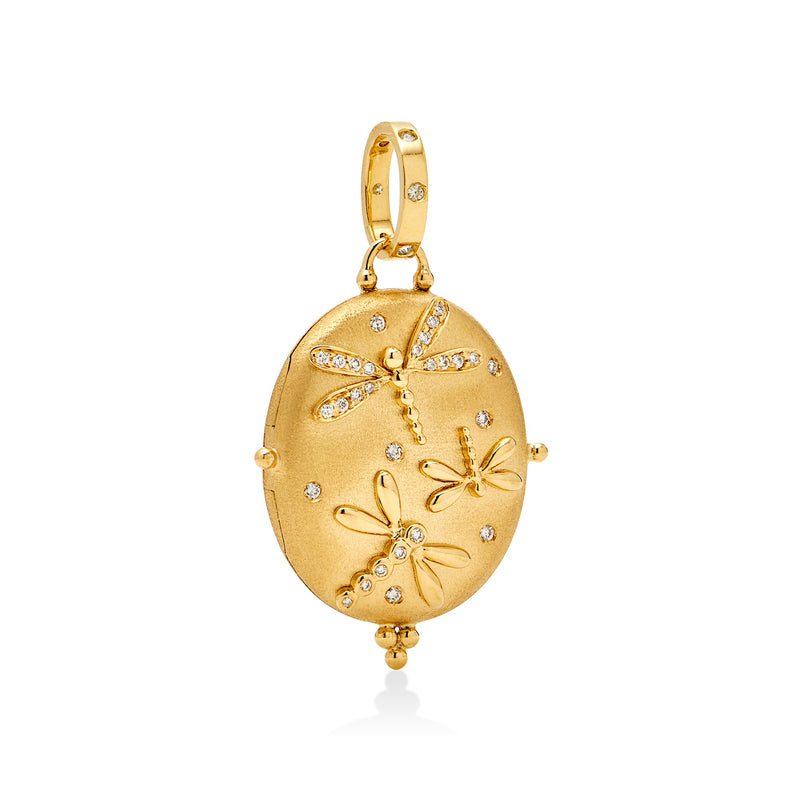 18K Dragonfly Locket