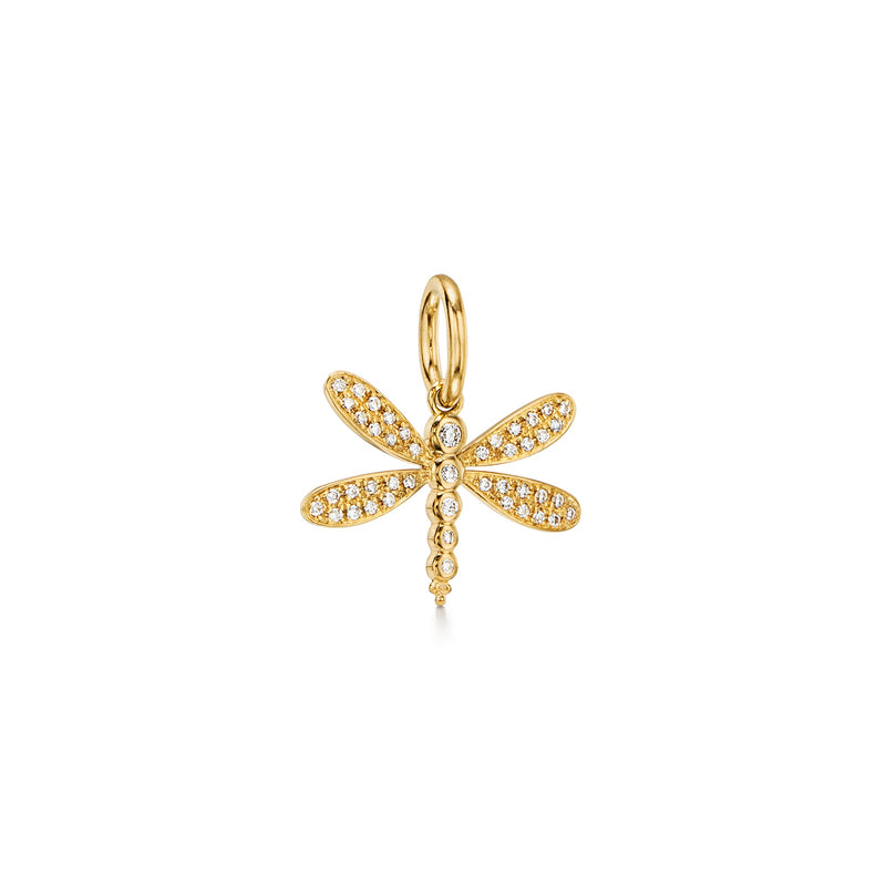 18K Diamond Dragonfly Pendant