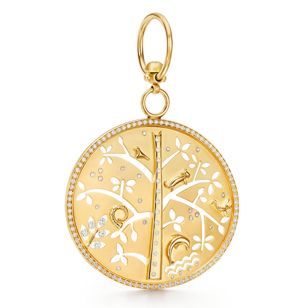 18K Tree of Life Pendant Large