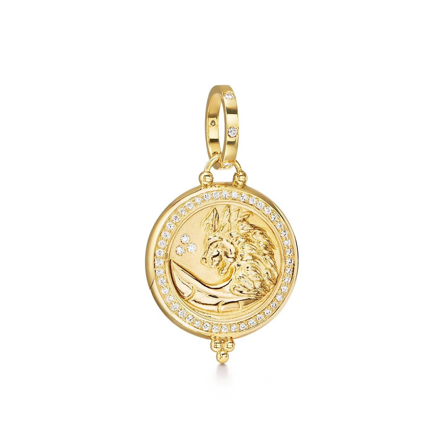 18K Lion Coin Pendant
