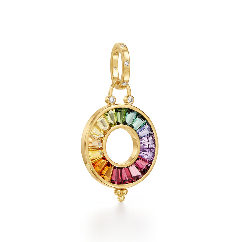 18K Color Wheel Pendant