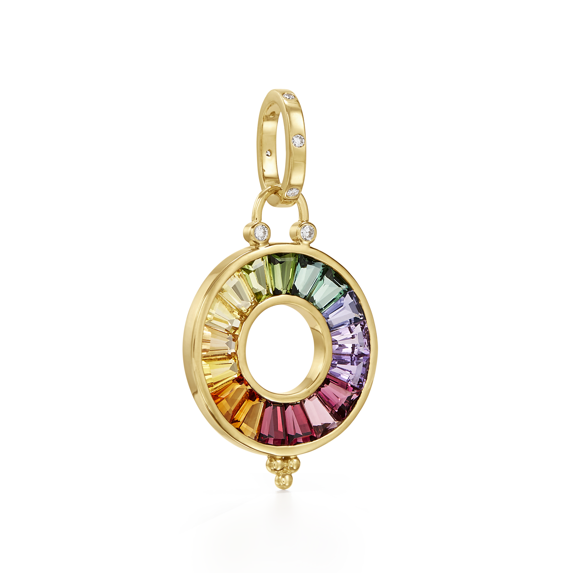 18K Small Color Wheel Pendant