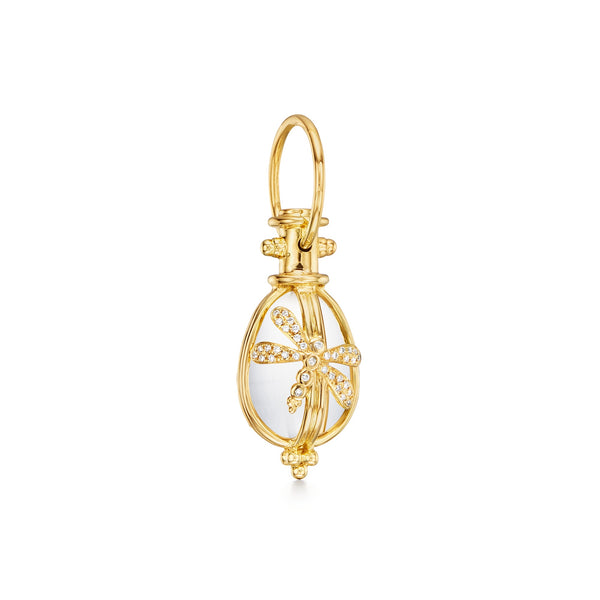 18K Diamond Dragonfly Amulet
