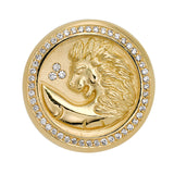 18k Lion Coin Ring
