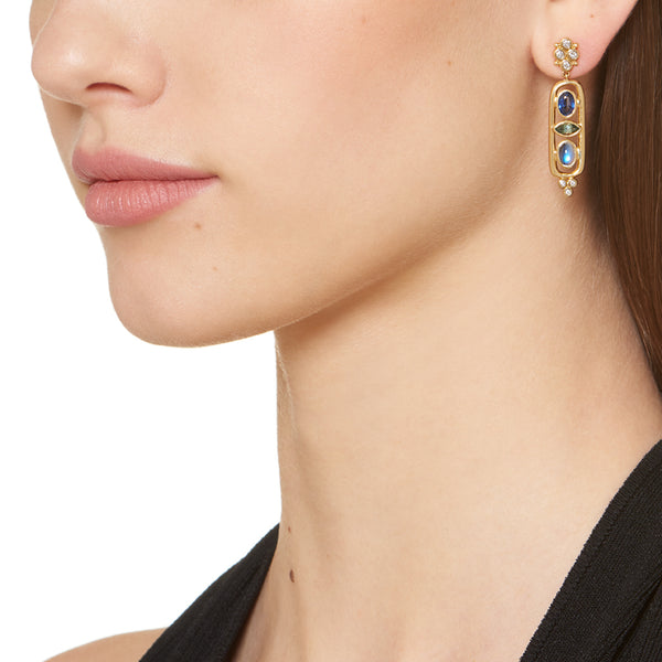 18K Theodora Cartouche Earrings