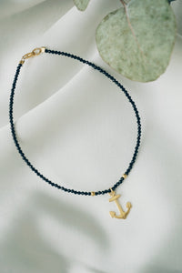 Anchor spinel ankle bracelet