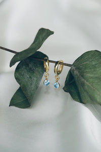 May aquamarine hoop earrings