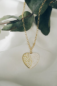 Chiara gold heart necklace