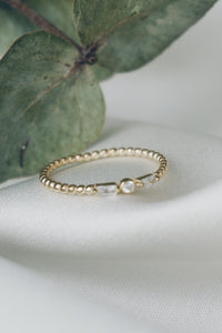 Delicate stone ring