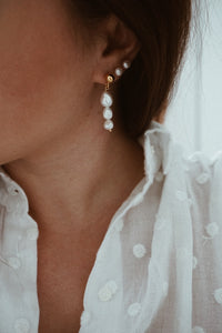 Tiny pearl earrings