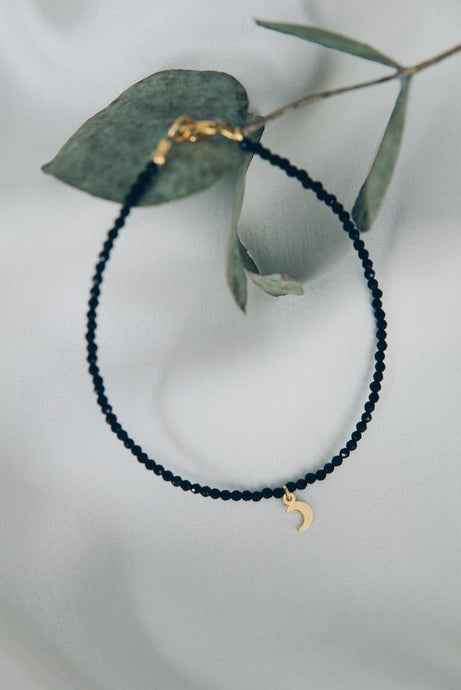 Moon spinel ankle bracelet